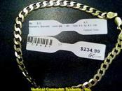 CURB LINK Gold Curb Bracelet 10K Yellow Gold 4.5dwt